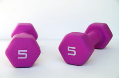 Two five pound hand weights Royalty Free Stock Photo