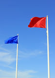Two Flags Stock Image