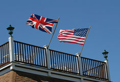 Two Flags Stock Images