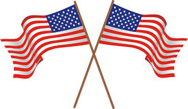 Two flags of the USA Royalty Free Stock Photos