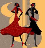 two flamenco dancers Stock Image