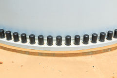 Two flanges by bolts and nuts Stock Photography