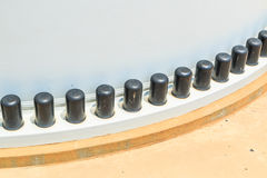 Two flanges by bolts and nuts Stock Images