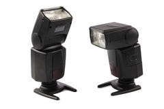 Two flash lamp Stock Images