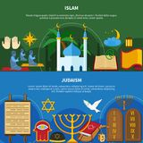 Religions Flyer Set Royalty Free Stock Photography