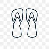 Two Flip Flops vector icon isolated on transparent background, l stock illustration