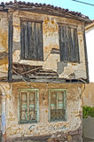 Two floor old house in ruins Stock Image