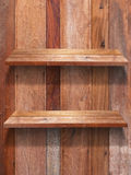 Two floor wood shelf Royalty Free Stock Photo