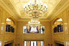Two floors of the lobby Royalty Free Stock Images