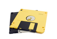 Two Floppy Disks Stock Photography