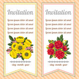 Two floral banners Stock Images