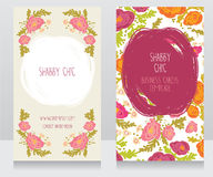 Two floral colorful cards, can be used as business cards for country shop Royalty Free Stock Images