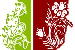 Two floral design elements Stock Images