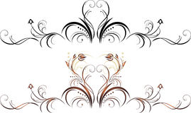 Two floral elements for decor Royalty Free Stock Photo