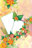 Two floral frames on background2 Royalty Free Stock Photos