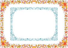 Two floral frames Stock Photo