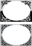 Two floral frames on white Stock Images