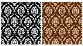 Two floral seamless arabesque Stock Photography