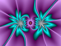 Two Flowers. Abstract fractal background with two flowers Royalty Free Stock Photos