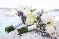 Two flowr bouquets Royalty Free Stock Photography