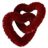 Two fluffy red hearts Royalty Free Stock Image