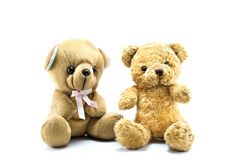 Two fluffy teddy bears Stock Photos