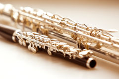 Two flute closeup Royalty Free Stock Images