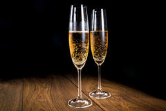 Two flutes of champagne Royalty Free Stock Photography