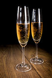 Two flutes of champagne Royalty Free Stock Photos