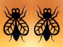 Two fly. Paper cutting. Royalty Free Stock Photography