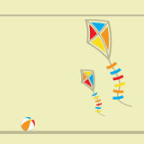 Two flying kites. Stock Image
