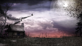 Two flying witches Stock Images