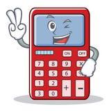Two Fnger Cute Calculator Character Cartoon Stock Photos
