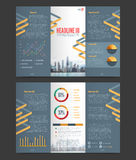 Two Fold Flyer Template Royalty Free Stock Images