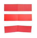 Two fold red flyers or leaflets on white. Royalty Free Stock Photo