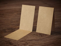 Two folded business cards Stock Images