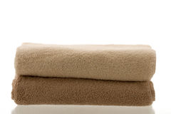 Two folded towels Stock Photos