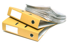 Two folders and pack of documents Royalty Free Stock Image
