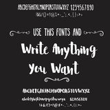 Two fonts collection for quotes and cards. Stock Image