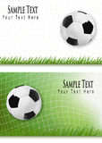Two football backgrounds. Royalty Free Stock Photography