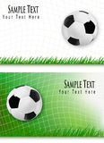 Two football backgrounds. Vector. Stock Photo