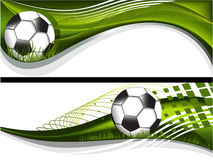 Two football banners Royalty Free Stock Photo