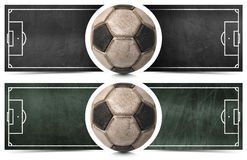 Two Football Banners with Blackboard Stock Images