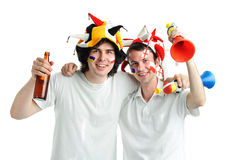 Two football fans Royalty Free Stock Photos