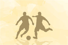 Two football players. On an abstract background Stock Photo