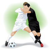Two footballers Royalty Free Stock Photo