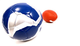 Two footballs Royalty Free Stock Photos