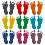 Two footprint icons set. Vector icon Royalty Free Stock Photography