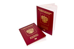 Two foreign passport Stock Image