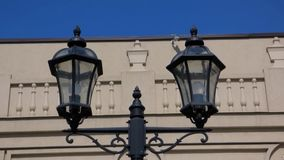 Two forged lantern stock footage